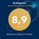 Booking.com Reviews Award - Maritimo Beach Hotel Crete