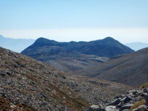 Climbing Psiloritis Mountain